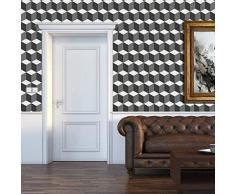 Walplus – Adesivi da Parete 3d cubes Pattern 8 confezioni decorazioni a parete rimovibile adesivo arte decalcomanie Salotto Cucina Mobili arredamento decorazione per la casa, ristoranti, hotel, Multicolore