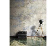 9 ROTOLI Carta da parati moderna industrial parete completa 513x300cm 15,39 MQ COLLA INCLUSA