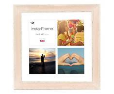 Inov Agosto 16 x 40.64 cornici mosaico Instaframe cm foto di Instagram 4/foto quadrati con nero opaco e bianco con bordo a filo, al rosa