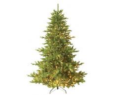 Forever Green Premium 958856vohk158–Albero di Natale, pieno PE, H 210x D 152cm, con 496LED luci, 2,196punte di metallo, verde