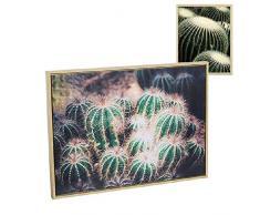 Dcasa Quadro Cornice Legno Cactus Decorazioni mobili Adesivi Decorazione casa Unisex Adulto Multicolore (Multicolore), Unico