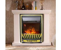 Lincsfire Modern Wickenby 2000W Inset Camino Elettrico Reale Effetto Fiamma Stufa Stufa Stufa da Interno | Telecomando | Timer | Visualizzazione Tempo/Temperatura