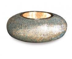 Naeve Leuchten 3052012 - Lampada da tavolo, altezza 20 cm, diametro 55 cm, in metallo e vetro, con lampadina inclusa, colore: Blu