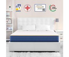 Veradea Materassi Migliori Sogni Migliori Veradea Ibrido Materasso, Schiuma Gel, 80 x 190 cm