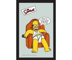 Empire 538925–Specchio Stampato I Simpsons, Divano con Cornice in plastica Effetto Legno, 20x 30cm