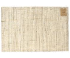 H&H Pengo 10M Ramie Tovaglietta Cotone, 45x30 cm, ramié, Beige, 30x45x1 cm, 2 unità