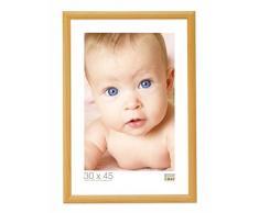 Promo Ideale Cornici In Legno, Molte Dimensioni e Colori, Cornice Foto - Arancione, 30x45