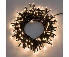 XMASKING Catena 12,5 m, 300 LED Bianco Caldo, con Giochi di Luce, Cavo Verde, luci per LAlbero di Natale, luci Natalizie