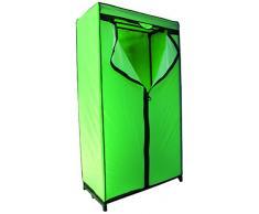 MSV 262 guardaroba, verde/nero, B90 x P 46 x 160 cm