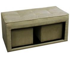 Ore International Cassapanca Plus 2-hidden seduta, Tessuto, Grigio, 16.5-inch