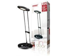 Ranex Cleo LED scrivania, Lampada da Ufficio, Nero 2.5 wattsW [Classe di efficienza energetica W