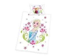 Herding 2479248063412 Disney s la Regina di ghiaccio Biancheria da letto, Cotone, Bianco, 100 x 135 cm