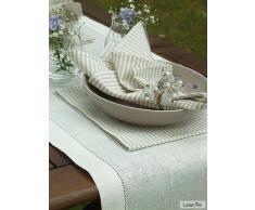 LinenMe 1-Pezzo 40 x 280 cm runner da tavolo in lino, bianco panna