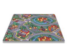 Parco giochi HMT 71095 bambini tappeto con design a torre di multicolore 95 x 200 cm