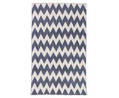 Zaida 275 x 180 cm, cotone, lana zig-zag Moquette, grigio / bianco