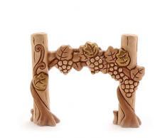 THUN - Vigna con Uva - Statuine Presepe Classico - Ceramica - I Classici