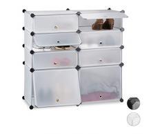 Relaxdays Scarpiera 8 Scomparti, Mobile Porta-Scarpe, Scaffale Componibile, HxLxP: 91 x 94,5 x 36,5 cm