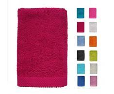 DHestia - Set di Asciugamani da Bagno e Doccia in Cotone 100%, 500 g/m², Colori e Misure Grandi, Colore: Ciliegia, 70 x 140 cm (Confezione da 2)