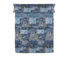 Lanovenanube qualità e Design, Blu, Letto 150 cm