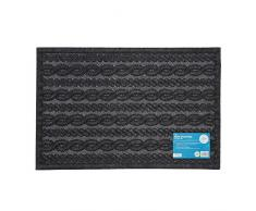JVL Eco-Friendly Knit Design Raschietto zerbino, Intrecciato, 40Â x 60Â cm, 100% Fibra di Poliestere Pet, 15% Gomma Riciclata, Antracite, 40Â x 60Â x 1Â cm