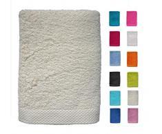 DHestia - Set di Asciugamani da Bagno e Doccia, in Cotone 100%, 500 g/m², Colori e Misure Grandi, 50 x 100 cm, 3 Pezzi