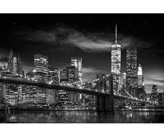 GB Eye-Stampa con Cornice, 40 x 50 cm, con Scritta Freedom, Tower B W & Poster New York