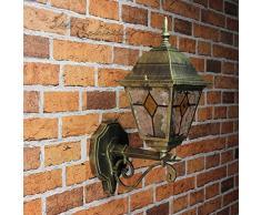 Antico lampada da parete lampada da parete con vetro in stile Tiffany aufwaerts E27Â 230Â V illuminazione esterno giardino cortile