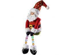WeRChristmas - Decorazione natalizia a forma di Babbo Natale, 50 cm, con luci LED