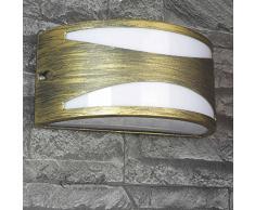 York lampada a parete applique in oro/IP44Â per ambienti umidi E27Â fino a 60Â W/lampada da parete in stile antico illuminazione cortile giardino terrazzo
