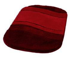 Kleine Wolke Tappeto da Bagno Serie Siesta, Poliacrilico, Rosso Vivo, 70 x 120 cm