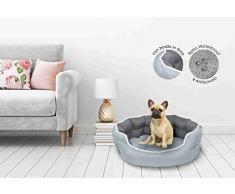 Sogni e Capricci Pets Cuccia Enjoy, Poliestere, Chiaro/Grigio Scuro, 48 x 42 x 16 cm
