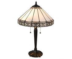 la Casa di Tiffany 5Ll-5211 Lampada da Tavolo, Bianco