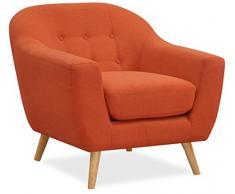 Lo+DeModa Poltrona da salotto in gommapiuma Coushto colore arancione 86x83x20 cm