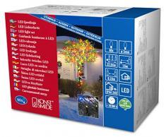 Konstsmide 3611-500 Catena Luminosa a Micro LED, 80 diodi Colorati, trasformatore Esterno 24 V, 4,8 W, Cavo Nero