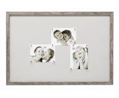 Deknudt Frames S45RH7 M 40 x 60 lavagna magnetica grigio di legno
