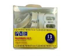 PME - Tagliapasta per Cake Design - Numeri, Confezione da 13