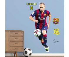 adesivi murali ufficiales FC Barcellona - Iniesta (42x94cm)