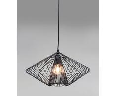 Kare 36758 lampadario ampio Wire Round, acciaio, Nero