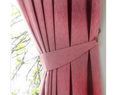 Fusion Dijon Plain Texture Coppia di fermatenda, Blush, 65 x 0.1 x 1 cm