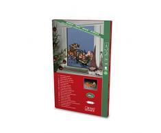 Konstsmide 2853–010finestra silhouette Babbo Natale e slitta/per interni (IP20)/230V/20LED/bianco caldo sostituibile cavo, multi