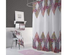 Bonamaison Tende da Doccia, Poliestere, Multicolore, 120x200 cm, 2 unità
