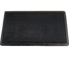 Textiles SAR - Zerbino in Gomma con Punte, 40 x 70 cm, Colore: Nero, 40 x 70 cm