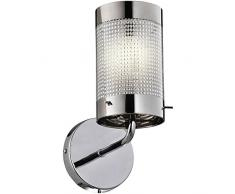 Light Prestige Monte lampade a candela da parete, Vetro, E27, 40Â W, Argento, 11Â x 18Â x 20Â cm