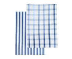 Kitchen Craft Classic - Set di 2 strofinacci, in cotone, colore blu marino