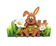 PETRA di mestiere-notizie A-HSH42HZAH Bastelset in legno per decorazione di Pasqua, lepre con recinto