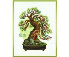 RIOLIS - Set ricamo con motivo Pino bonsai della longevità
