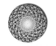 Stilia - Tappeto per Camera da Letto e Letto, Rotondo, Stampato, Modello a baldacchino, 78 cm, Multicolore