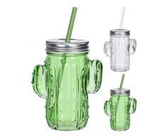 Bicchiere modello Cactus con cannuccia