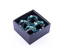 LegendArte LH-037 Allacciatovaglioli Anelli Portatovaglioli Gioiello, Metallo, Alzavola, 14x14x7 cm, 4 unità