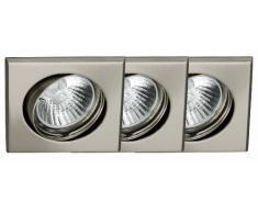 Brilliant G94514A13 - Set di faretti da incasso, modello Felix, orientabili, 2 pezzi, colore: grigio ferro